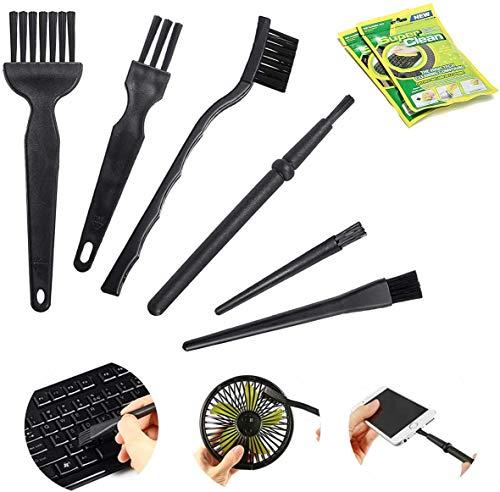MECO ELEVERDE 10 in 1 Tastatur Reinigung Set, Tragbare Griff Nylon antistatische Bürsten Reinigungsset (2 Packungen Reiniger Gel) für Keyboard, Laptop, Auto, Sofa und Andere Möbel