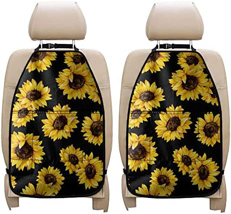 Salabomia Sunflower Kick Mats Back for Protector SUV Seat Courier shipping free 67% OFF of fixed price Trucks