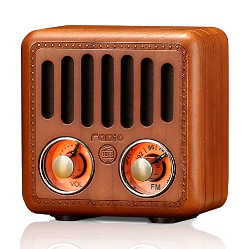 Retro Radio Vintage Bluetooth Speaker Cherry Wood FM Radio 800mAh Rechargeable Battery, with Speaker Best Sounds, Design, Lovely Apperance, Supported Bluetooth, AUX Input, TF Cards