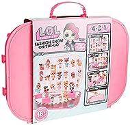 L.O.L Surprise! 562689 L.O.L. Surprise Fashion Show On-The-Go Hot Pink Storage & Playset, Multi