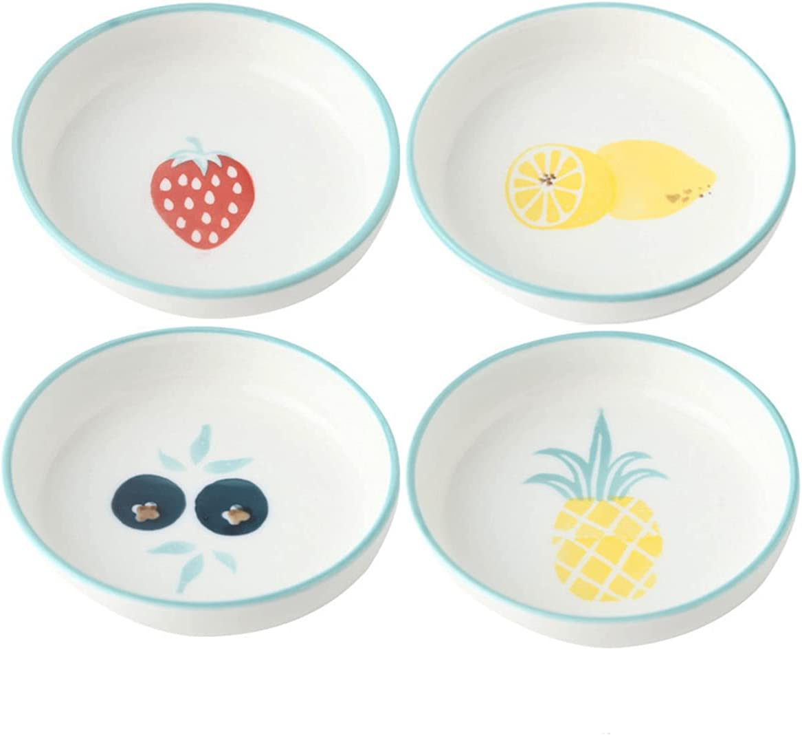 Fort Worth Mall Sizikato 4pcs Porcelain Appetizer F 3.4-Inch Snack Plate Rapid rise