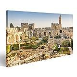 Bild Bilder auf Leinwand Jerusalem, Israel am Turm Davids.