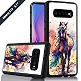 Horse Painting Phone Case Samsung Galaxy S10 Cover Shockproof Anti-Skid Tired Tread Protective Case for Samsung Galaxy S10