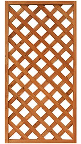 ガーデンガーデン 天然木製 格子ラティス 60cm×120cm×35mm 1枚 ライトブラウン WLL-6012T