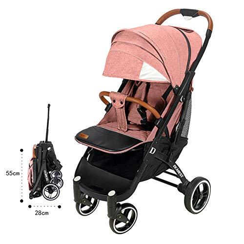 LYzpf Leichter Baby Kinderwagen Stilvolle Babyartikel Kombikinderwagen Babyausstattung Buggy Faltbar Babyzubehör Babyprodukte Kompakt Zubehör für 0-36 Monate,pink