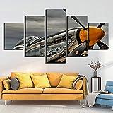 SMXSSJT 5 Stück Leinwand Gemälde Flugzeug Hd Wall Printed Abstract Canvas Art Modular Painting 5 Panel Poster Home Living Room Pictures Decor.30X60Cm*2/30X70Cm*2/30X80Cm*1(Ohne Rahmen