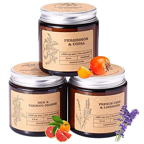 Aromaflare Scented Jar Candle Sets Gifts for Women 3 Pack Aromatherapy Candles for Home Relaxing Birthday Gift for Her Girlfriend Mom Friends Besties