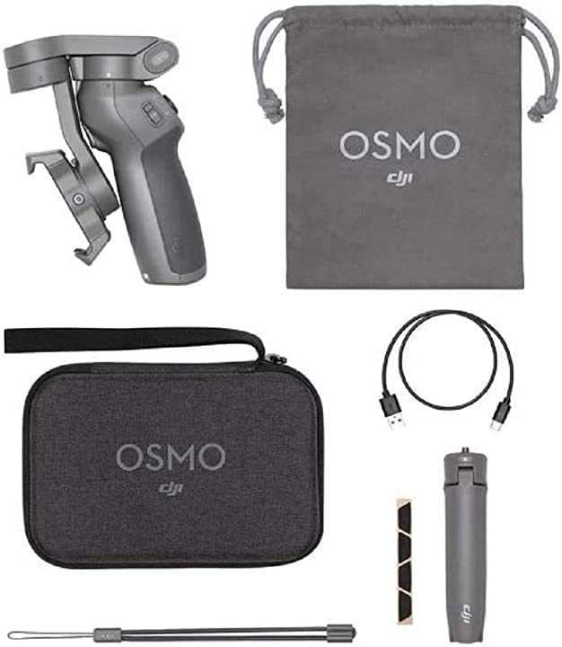 Stabilizzatore gimbal a 3 assi, compatibile con iphone e smartphone android dji osmo mobile 3 combo kit CP.OS.00000040.01