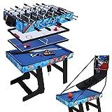 AHHC Children Combo Game tables 4ft Kids Foosball table tennis table pool hockey table basketabll