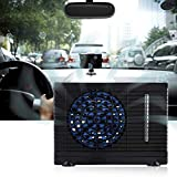 Zerone Car Air Conditioner Fan, Portable Air Cooler Universal DC 12V Mini Air Conditioner Fan Low Noise Black Evaporative Water Cooler Cooling Fan for Car Truck Home