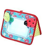Cuna y espejo de actividad en el piso, Carro cuna espejo cognitivo espejo de seguridad para bebé