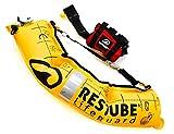 Restube Lifeguard Boya Salvavidas - Ayuda a la Flotabilidad en Aguas Abiertas para Socorristas y Otros Profesionales de Rescate - Dispositivo de Inflado de un Tirón con Sistema de Bloqueo y Arrastre