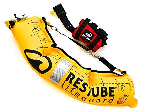 Restube Lifeguard Bojka Asekuracyjna dla Dorosłych - Pływacka Boja Ratunkowa dla Służb Zapewniających Bezpieczeństwo w Wodzie - Natychmiastowe Pomopowanie Plus System Zapięcia i Holowania