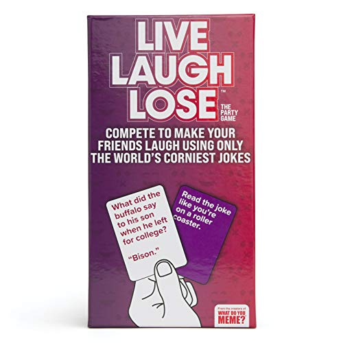Live Laugh Lose - The Party Game Where You Compete to Make Corny Jokes Funny - by What Do You Meme?