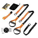 Rovive Fitness Sling Trainer Set de correas de entrenamiento de suspensión, kit de correas de resistencia para entrenamiento de peso corporal, correas de fitness para interiores y exteriores