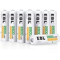 16-Counts EBL Rechargeable AA Batteries