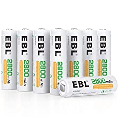 ProCyco technology - extend lifespan up to 1200 cycles. High capacity - No longer to worry about the endurance of the batteries, EBL 2800mAh 1.2V AA Batteries will provide ultra strong power for your devices to performance well and operate longer. Su...