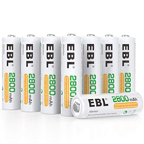 EBL AA Rechargeable Batteries 2800mAh Ready2Charge Quality AA Batteries - 16 Counts