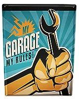 なまけ者雑貨屋 Garage My Garage Gas Stations ブリキ看板ヴィンテージメタルパブクラブカフェバーホームウォールアート装飾ポスターレトロ40x30cm