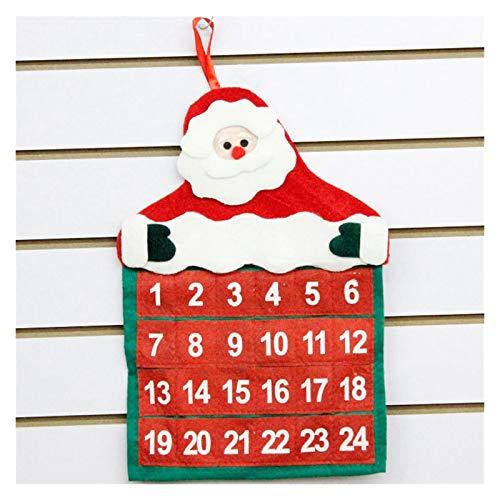 Fgolphd Decoraciones de Navidad de Santa Claus Calendario del Pasillo del Hotel de Navidad Colgante Familia Decoración Colgante 2020 Red