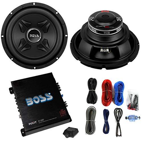 2) Boss CXX10 10' 1600W Car Audio Power Subwoofer Sub+ Mono Amplifier+Amp Kit