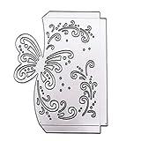 Bestine - Fustelle in metallo a forma di fiore, per matrimonio, quadrato, in pizzo, ideale per decorazioni fai da te e fai da te, fai da te, biglietti di carta, scrapbooking, goffratura