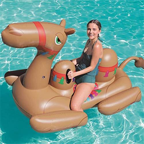 Kyman NEU Männer Frauen riesige aufblasbare Fahrt auf Kamel Pool Floats Tier fahrbar Pool Floaties Bett Sommer-Wasser-Spielzeug Air Raft Bed