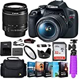Canon EOS Rebel T7 DSLR Camera Bundle with Canon EF-S 18-55mm f/3.5-5.6 is II Lens + Gadget Case + 32GB Sandisk Memory Card + Accessory Kit (13 Items) (Renewed)