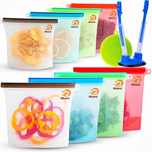 Reusable Silicone Food Bag Reusable Sandwich Bags Silicone Storage Bags