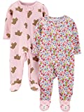 Simple Joys by Carter's 2-Pack Cotton Footed Sleep and Play Infant Toddler-Sleepers, Osos...