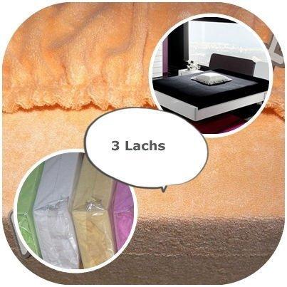 #5 Kinder Jersey Spannbettlaken, Spannbetttuch, Bettlaken, 70x160 cm, Lachs