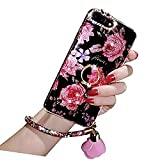 iPhone 6 Plus Crystal TPU Case,Inspirationc Diamond iPhone 6S Plus Case Bling Glitter Rhinestone Soft Silicone Rubber Bumper Case with 360 Ring Stand Holder for iPhone 6 Plus/6S Plus-Strap Rosemary