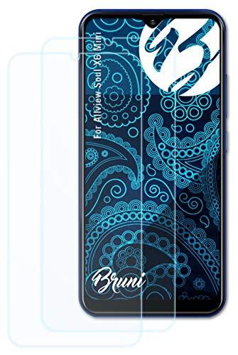 Bruni Schutzfolie kompatibel mit Allview Soul X6 Mini Folie, glasklare Bildschirmschutzfolie (2X)