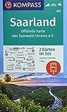KOMPASS Wanderkarte Saarland, Offizielle Karte des Saarwald-Vereins e.V.: 2 Wanderkarten 1:50000 im Set inklusive Karte zur offline Verwendung in der ... Reiten. (KOMPASS-Wanderkarten, Band 825)