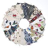 Comius Sharp 20 Piezas Bolsa de Cordón de Algodón y Lino para Guardar Regalos Bolsa de Lino de algodón Impresión Floral Bolsas de Arpillera 10×14 CM