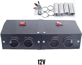 Calentador de automóviles Universal DC 12-24V 4 Puertos , Calefactor de Aire para Camiones Plomería automotriz Evaporador de Aire Acondicionado, Desempañador de automóviles Eliminador de nieblas