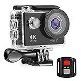 NEXGADGET 4K WiFi Action Kamera 12 MP 2.4 G RC Fernbedienung mit 170° Weitwinkel Sport Action...