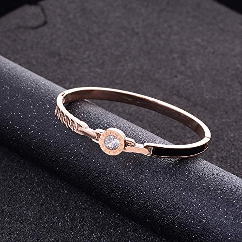 LFWQ stijlvolle Titanium stalen damesarmband set met diamant eenvoudige armband honderden set persoonlijkheid Hipster accessoires armband