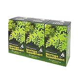 無農薬・無化学肥料のモリンガ葉100%使用 モリンガサプリメント(1カプセル230mg×200個)【3個パック】