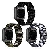 MPWPQ 3 Paquete Bandas de Reloj elástico compatibles con Fitbit Versa/Versa 2 / Versa Lite/Versa SE Pulsera Deportiva de Nylon Ajustable (Color : 8, Size : For Versa 2/Lite/SE)