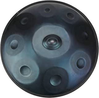 """Lark Music"" hand pan in D Minor 9 notes steel hand drum + Soft Hand Pan Bag (22.8"" (58cm), Deep Blue (D Minor)"