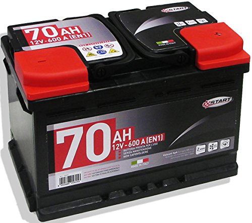 Batteria Auto 70Ah 12V 600A polo positivo destro cassetta L3B