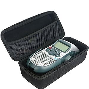 Khanka Duro Viaje Estuche Bolso Funda para DYMO LetraTag LT-100H Tape Impresora de etiquetas LabelMaker. Mesh Pocket para YMO 12mm LetraTAG Plastic tape