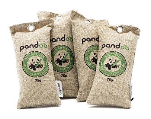 Natuurlijke bamboe luchtverfrisser met actieve kool - luchtreiniger & ontvochtiger | Luchtzuiveringszak | Schoendesodorator en Geurreiniger