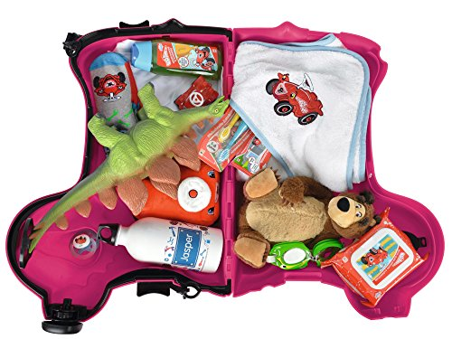 BIG 800055353 - Bobby-Trolley, Kinderkoffer, Kindergepäck, rosa - 4