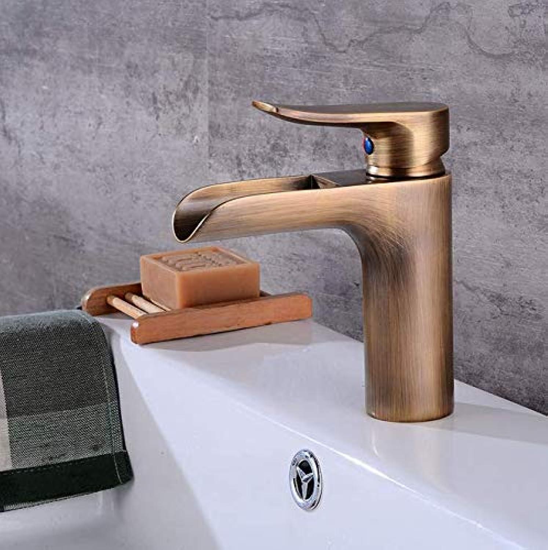 Wasserhahn Europisches Wasserhahn-Wiederherstellungs-Plattform-Niedrigeres Becken-Hahn-Badezimmer-Badezimmer-Kalter Und Heier Waschbecken-Hahn