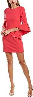 Black Halo Womens 3599781 Lorie Mini Three-Quarter-Sleeve Dress - Pink