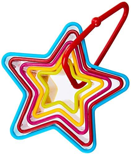 Cortador Estrela 5 Peças Carol Yazi Sortido - Azul, Vermelho E Amarelo No Voltagev