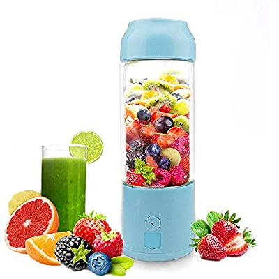 Portable USB Juicer Cup -Suitable for Personal Travel/Household Fruit and Vegetable Smoothie Mixer -USB Rechargeable Small Handheld Blender 480ML