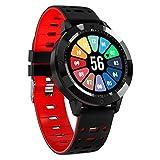F-XDD CF58 Smart Watch, IP67 Membrana Attiva in Vetro temperato Impermeabile con Fitness Tracker per cardiofrequenzimetro, Orologio Sportivo, Adatto per iOS/Android, bracciali Uomo e Donna,Rosso